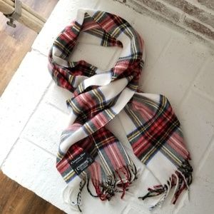 CHRISTIAN DIOR MONSIEUR CASHMERE PLAID SCARF